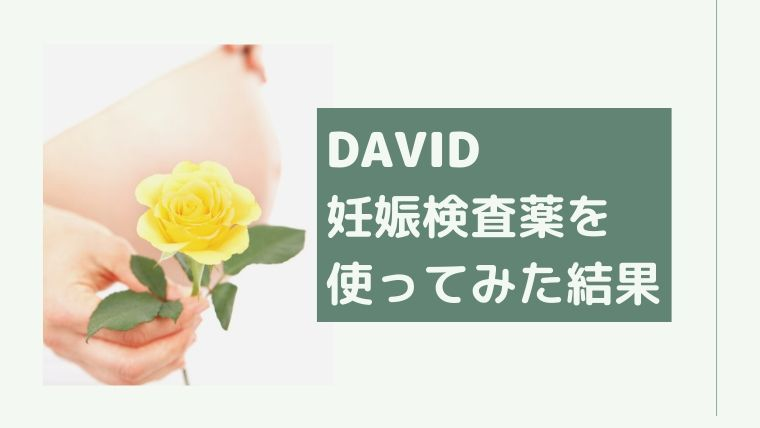 DAVID 妊娠検査薬 フライング